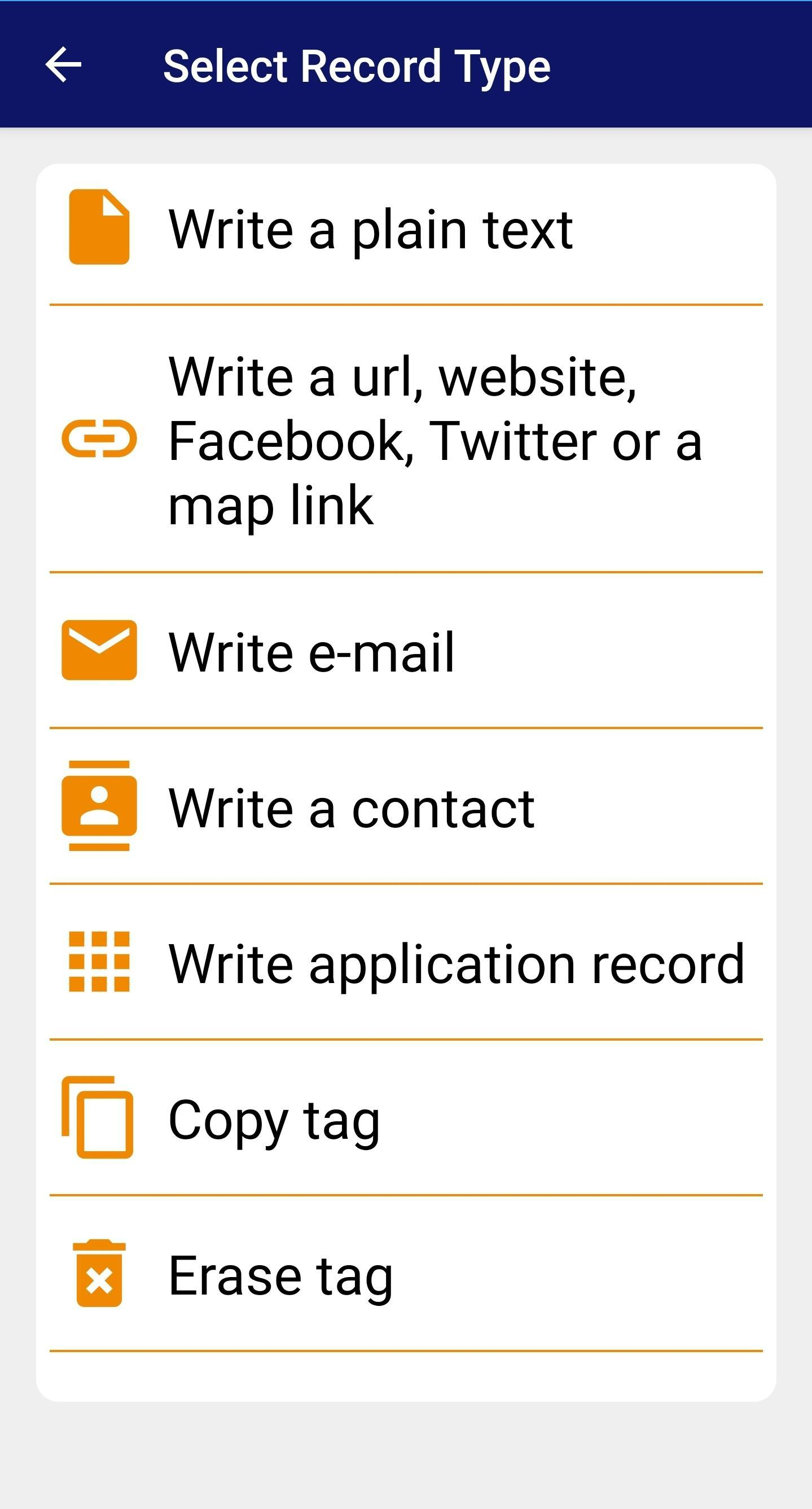 NFC Tag reader, NFC Tag writer - NFC reader for Android