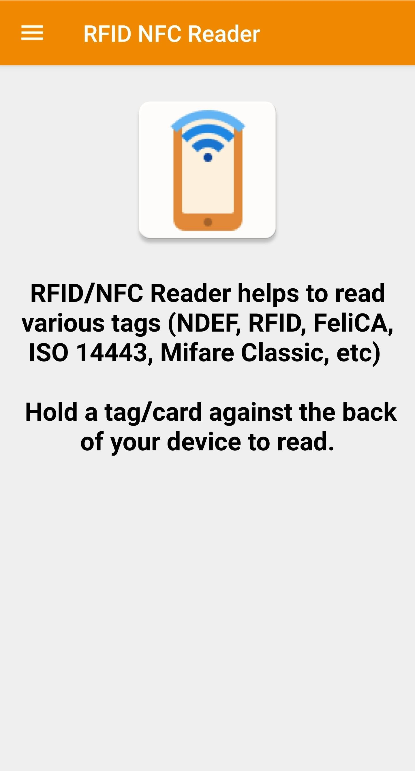NFC reader app android - RFID Tag Reader & finder for