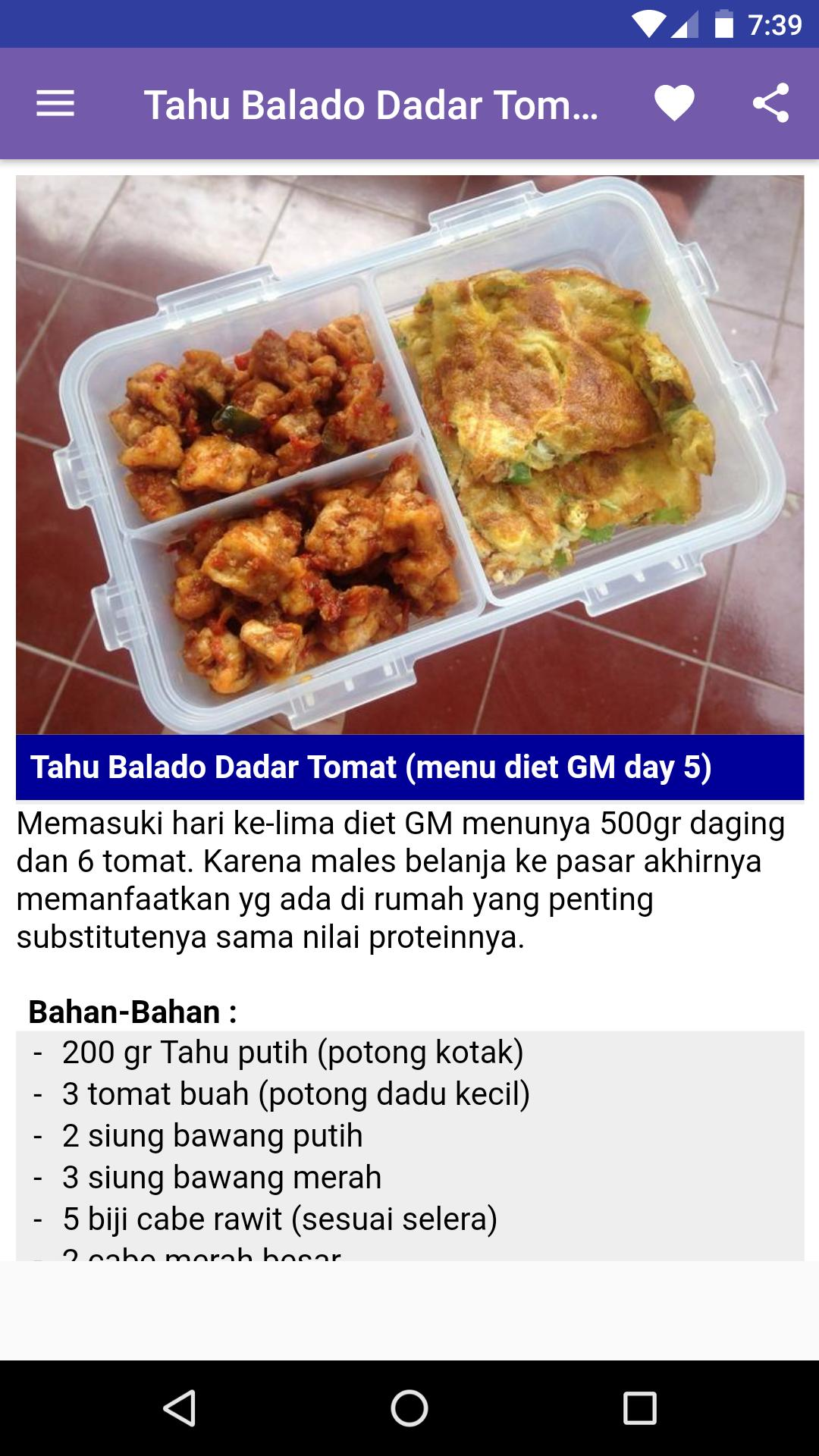 Resep Diet GM Terbukti Banget for Android - APK Download