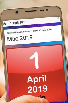 Tarikh PERKESO 2019 screenshot 2