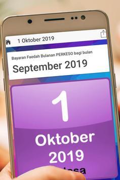 Tarikh PERKESO 2019 screenshot 3