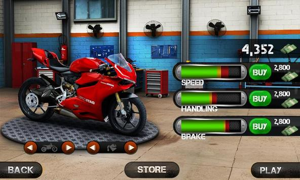Race the Traffic Moto скриншот 17