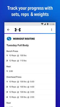 Map My Fitness Workout Trainer Ekran Görüntüsü 2
