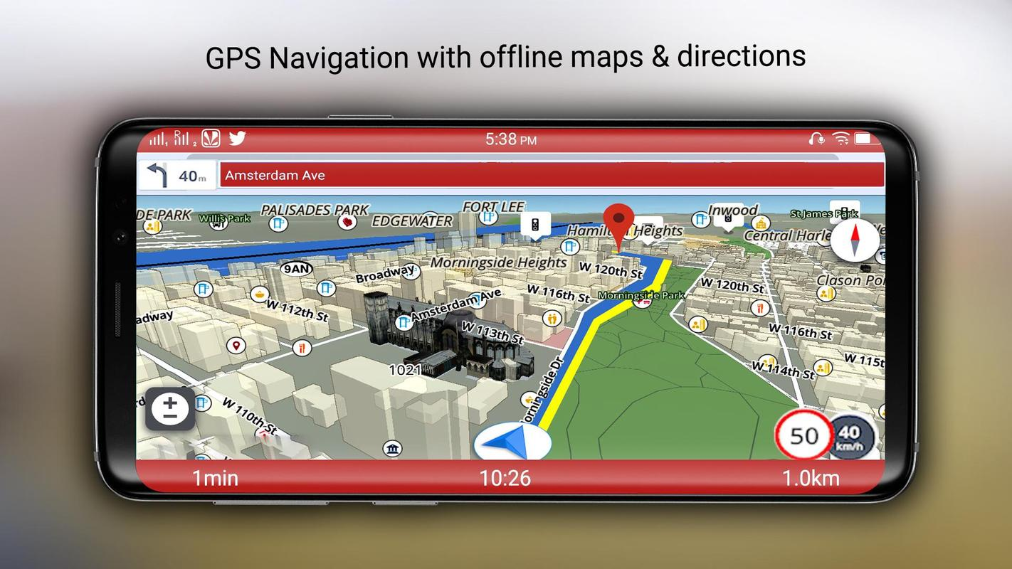 free gps maps navigation directions and traffic for. Black Bedroom Furniture Sets. Home Design Ideas