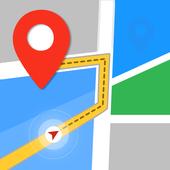 GPS,карты, голосовая навигация и пункты назначения иконка