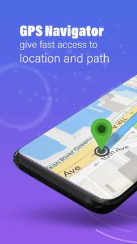 GPS,地圖,語音導航和目的地 海報