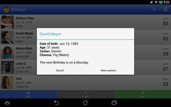 Birthdays screenshot 7