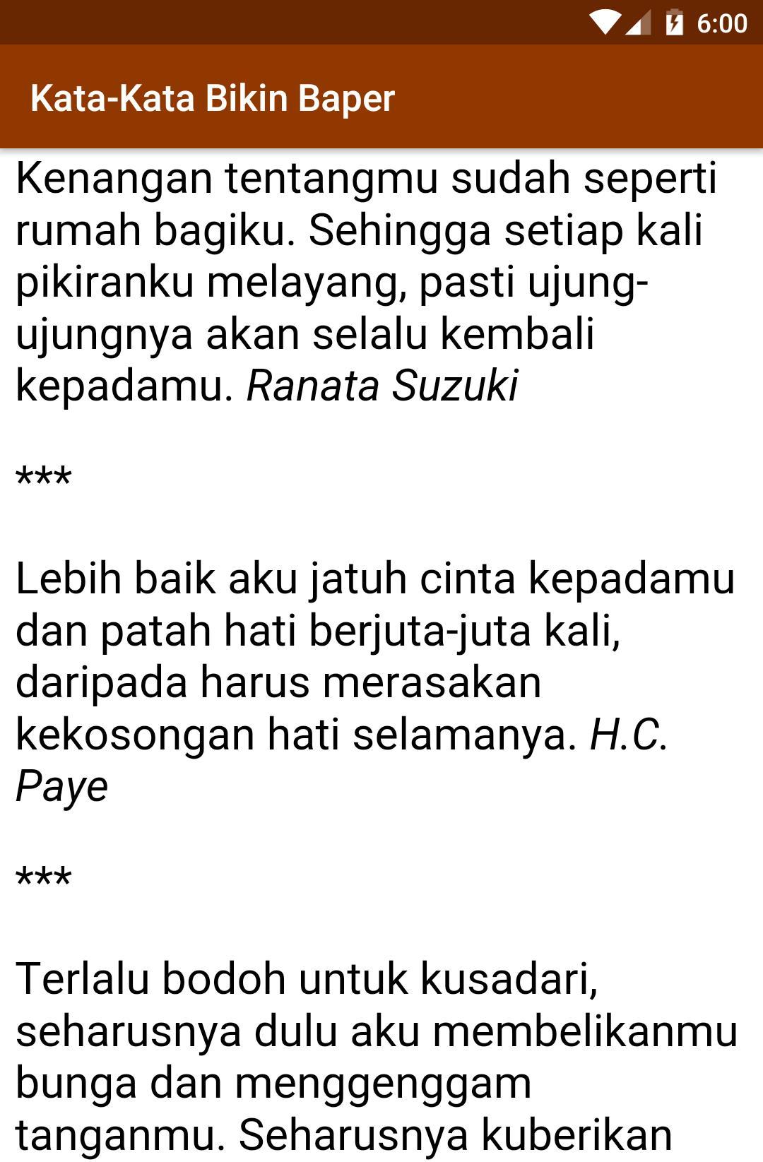 Kata Kata Baper Menyentuh Hati For Android Apk Download
