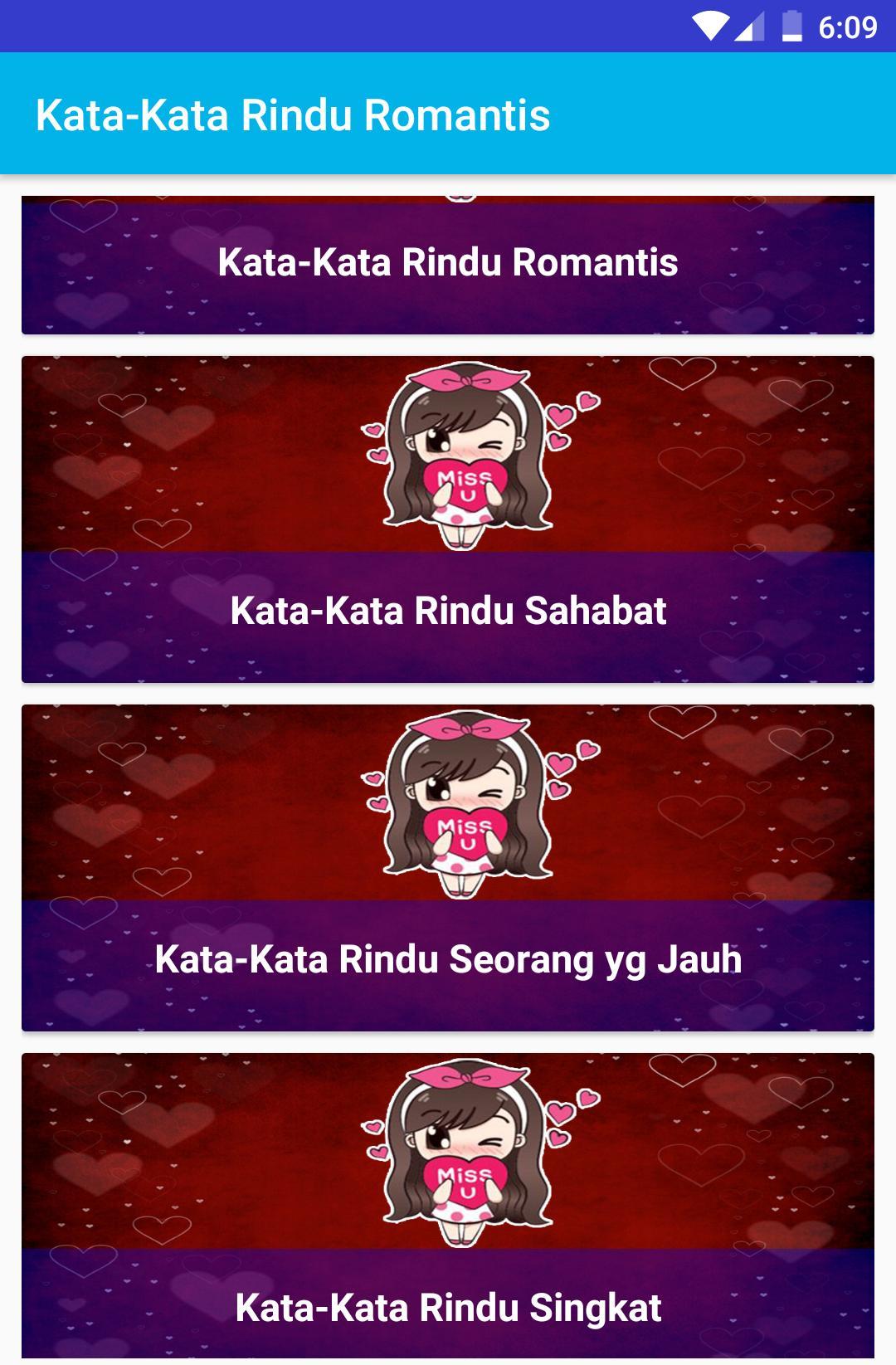 Kata Kata Rindu Romantis For Android Apk Download