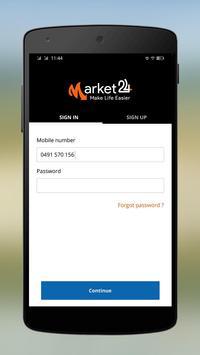 Market24 - Make life easier poster