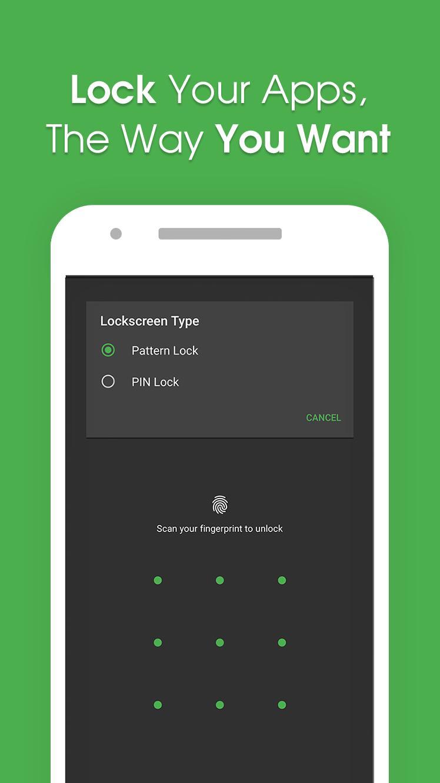 Applocker Lock Apps Fingerprint Pin Pattern For Android