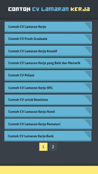Contoh Cv Lamaran Kerja For Android Apk Download