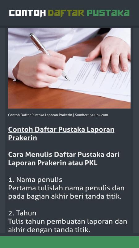 Contoh Daftar Pustaka For Android Apk Download