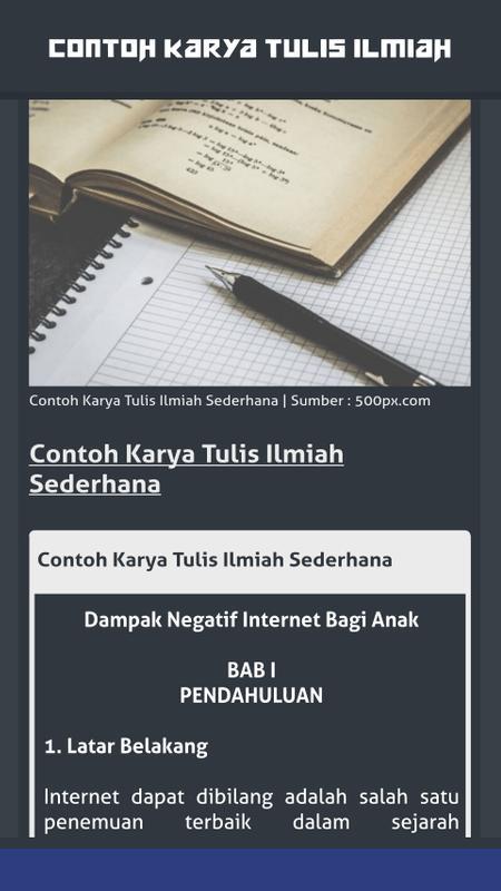 Contoh Karya Ilmiah Pendidikan Download