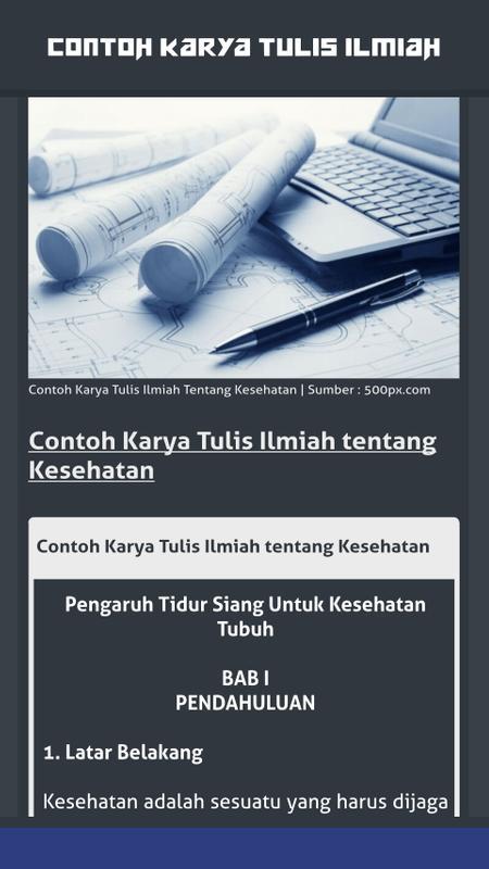 Contoh Karya Tulis Ilmiah For Android Apk Download