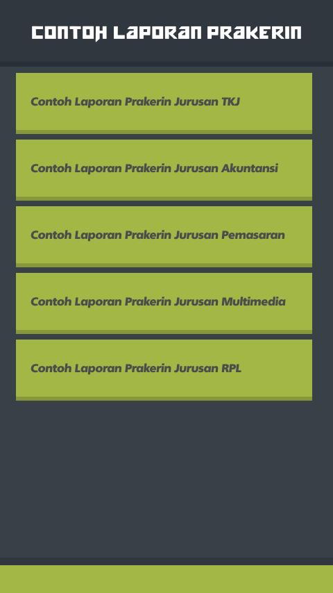 Contoh Laporan Prakerin For Android Apk Download