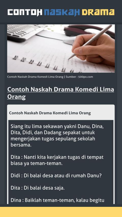 Contoh Naskah Drama for Android - APK Download