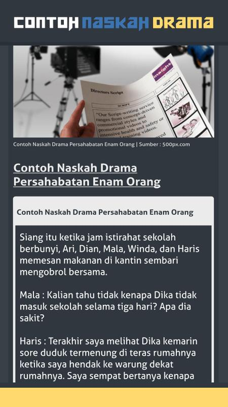 Contoh Naskah Drama For Android Apk Download