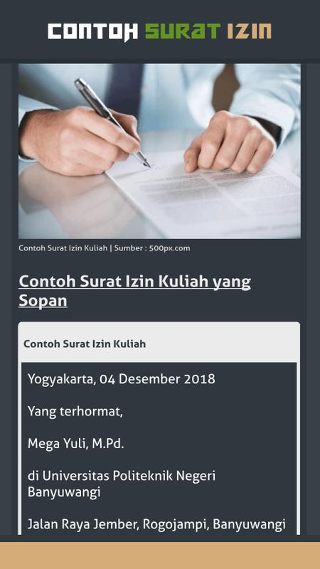 Contoh Surat Izin For Android Apk Download