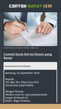 Contoh Surat Izin screenshot 7