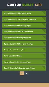 Contoh Surat Izin screenshot 1