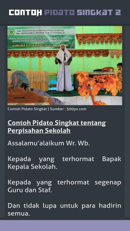 Contoh Pidato Singkat 2 For Android Apk Download