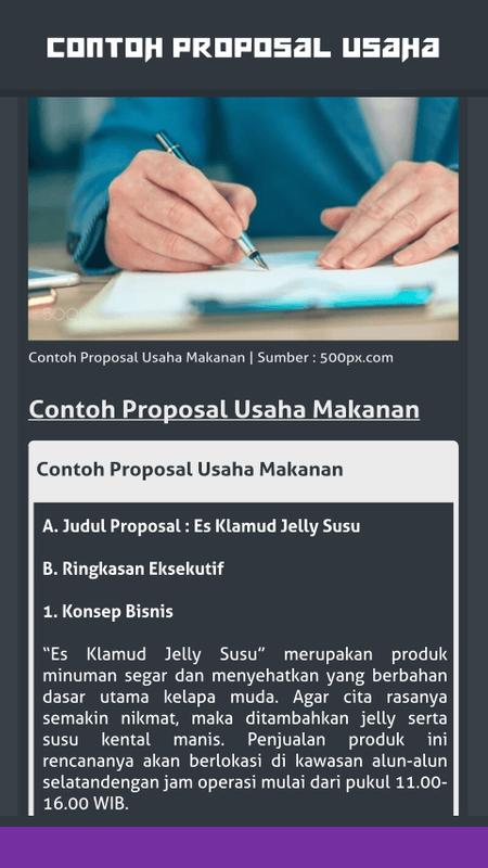 Contoh Proposal Usaha For Android Apk Download