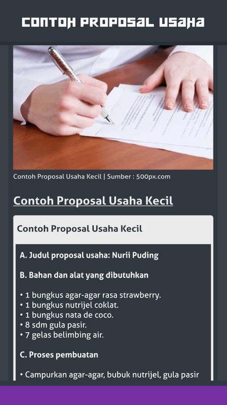 Contoh Proposal Usaha For Android Apk Download
