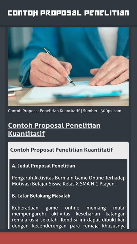 Contoh Proposal Penelitian For Android Apk Download