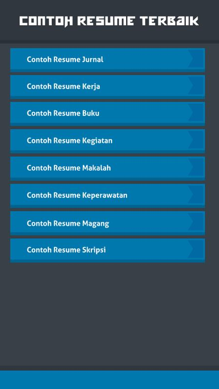 Contoh Resume Terbaik For Android Apk Download
