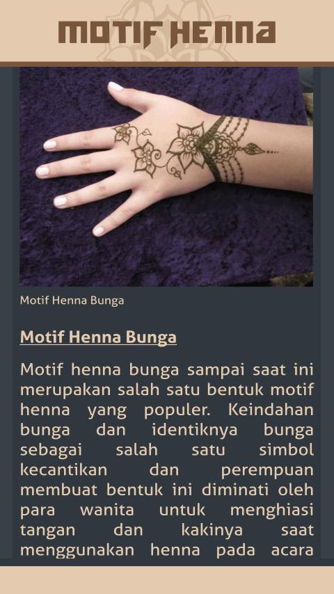 Gambar Motif Henna For Android Apk Download