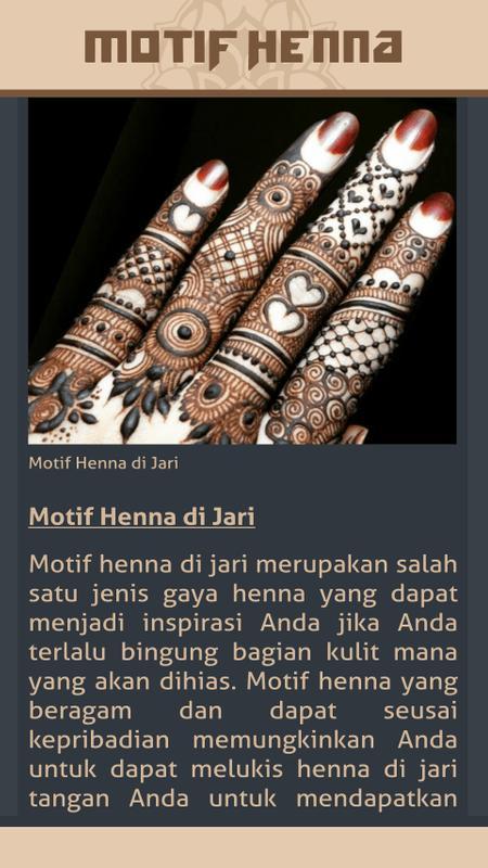 Gambar Motif Henna For Android Apk Download