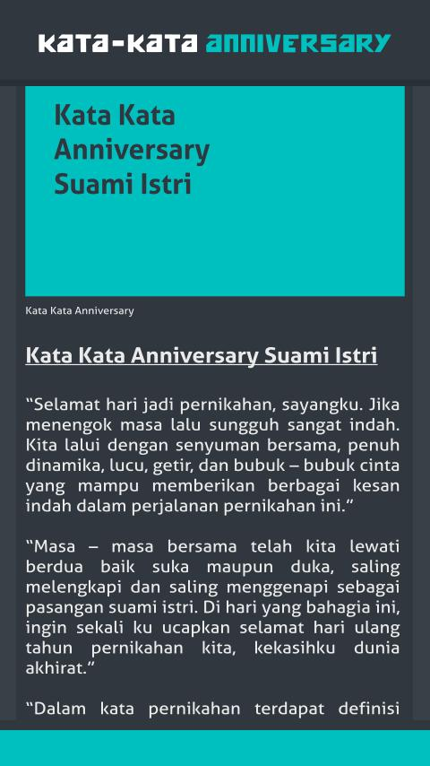 Kata Kata Anniversary For Android Apk Download