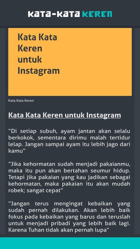 Kata Kata Keren For Android Apk Download