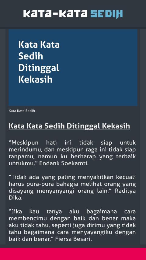 Kata Kata Sedih For Android Apk Download