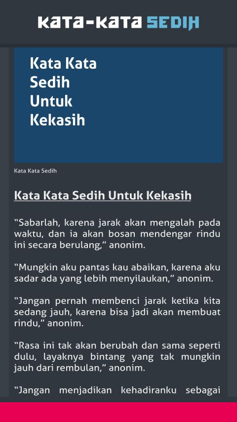Kata Kata Sedih For Android Apk Download