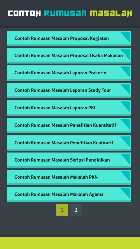 Contoh Rumusan Masalah For Android Apk Download