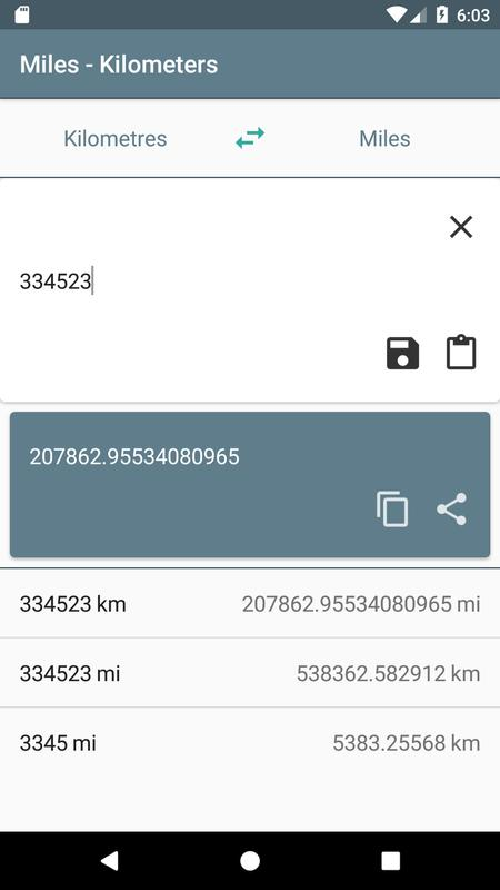 Miles Kilometers Screenshot 4