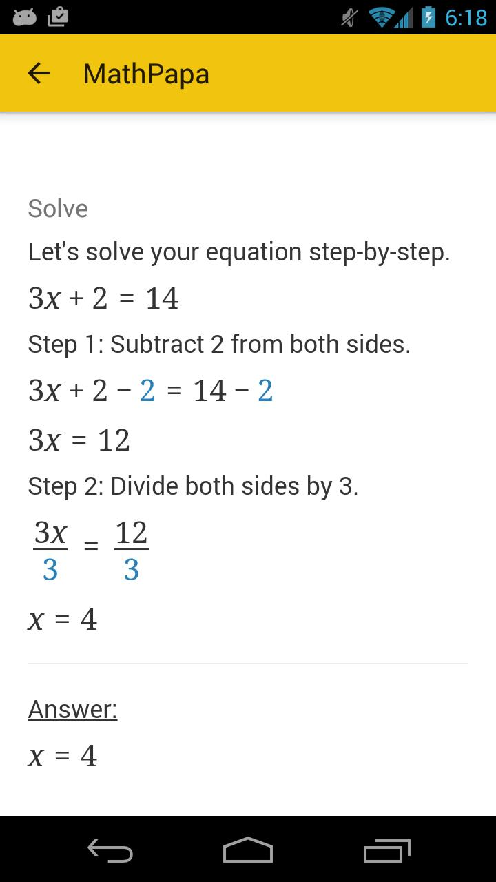 MathPapa for Android - APK Download