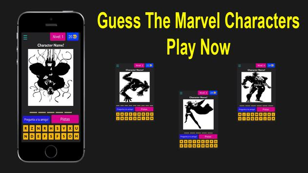 Guess Marvel Character - 2018 poster