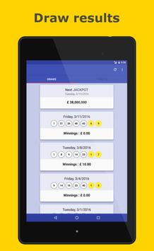 Results for Euromillions screenshot 12