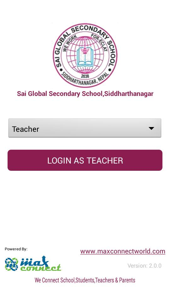 Sai Global Secondary School,Siddharthanagar for Android
