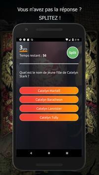 Split Quiz Game of Thrones screenshot 1