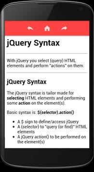 jQuery Tutorial & Reference screenshot 2