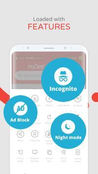mCent Browser—स्मार्ट ब्राउज़िंग स्क्रीनशॉट 4