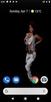 Hip Hop Dancer Girl Video Wallpaper screenshot 2