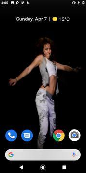 Hip Hop Dancer Girl Video Wallpaper screenshot 3