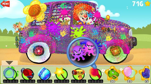 Amazing Car Wash For Kids FREE screenshot 3