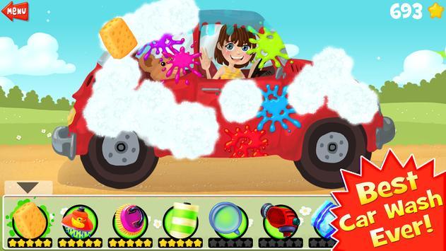 Amazing Car Wash For Kids FREE screenshot 10
