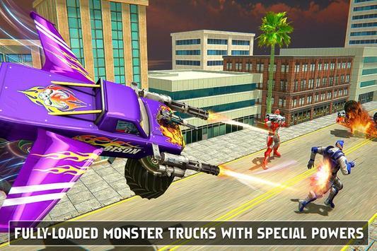Flying Monster Truck Robot Transform - Robot Wars screenshot 3